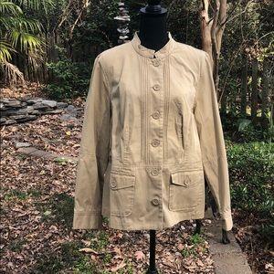 Venezia khaki jean jacket size 18/20